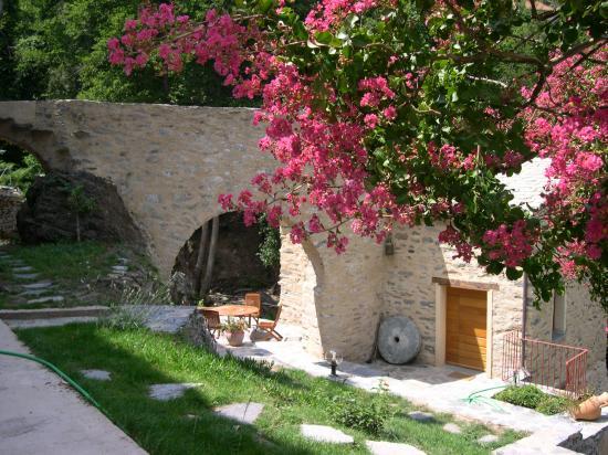 accès et vue extérieur du moulin
