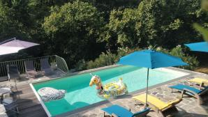 Gite U Caseddu vue piscine